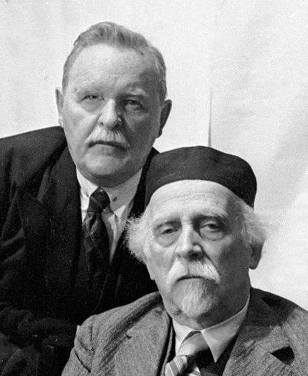 С.С. Намёткин и Н.Д. Зелинский. 1938 г.