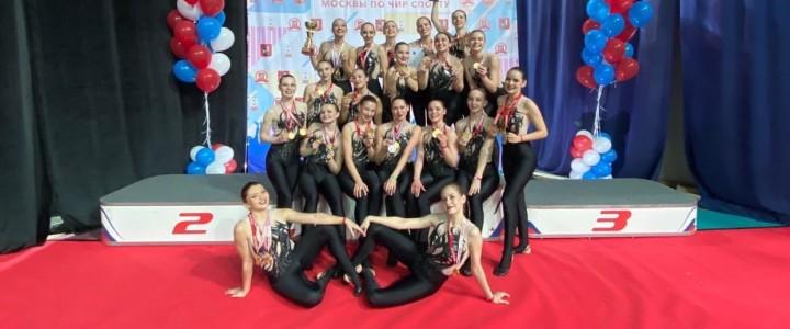 Студентки ИФКСиЗ Мальцева Наташа и Баева Полина успешно выступили на Чемпионате Москвы по чир-спорту