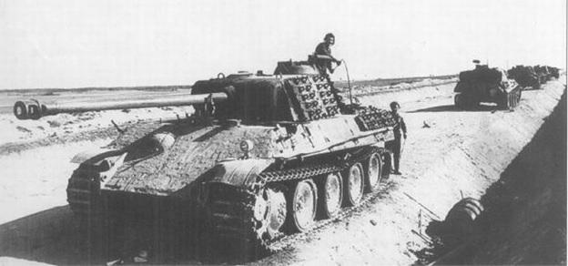 Немецкие танковые войска на марше