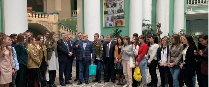 Студенты Факультета дошкольной педагогики и психологии на встрече с героем России Алексеем Романовым