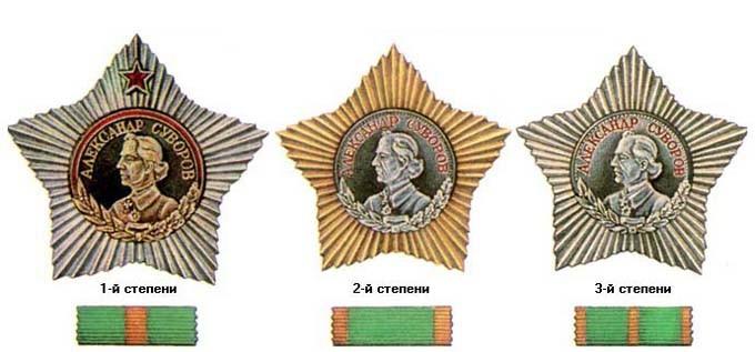 Орден Суворова. СССР