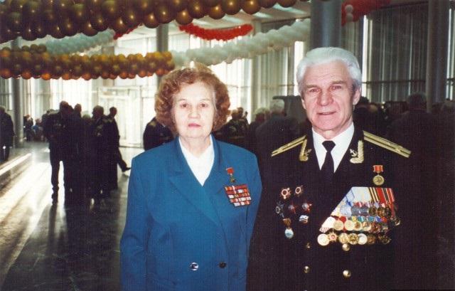 А.Ф.Акимова с мужем Т.С.Манаенковым