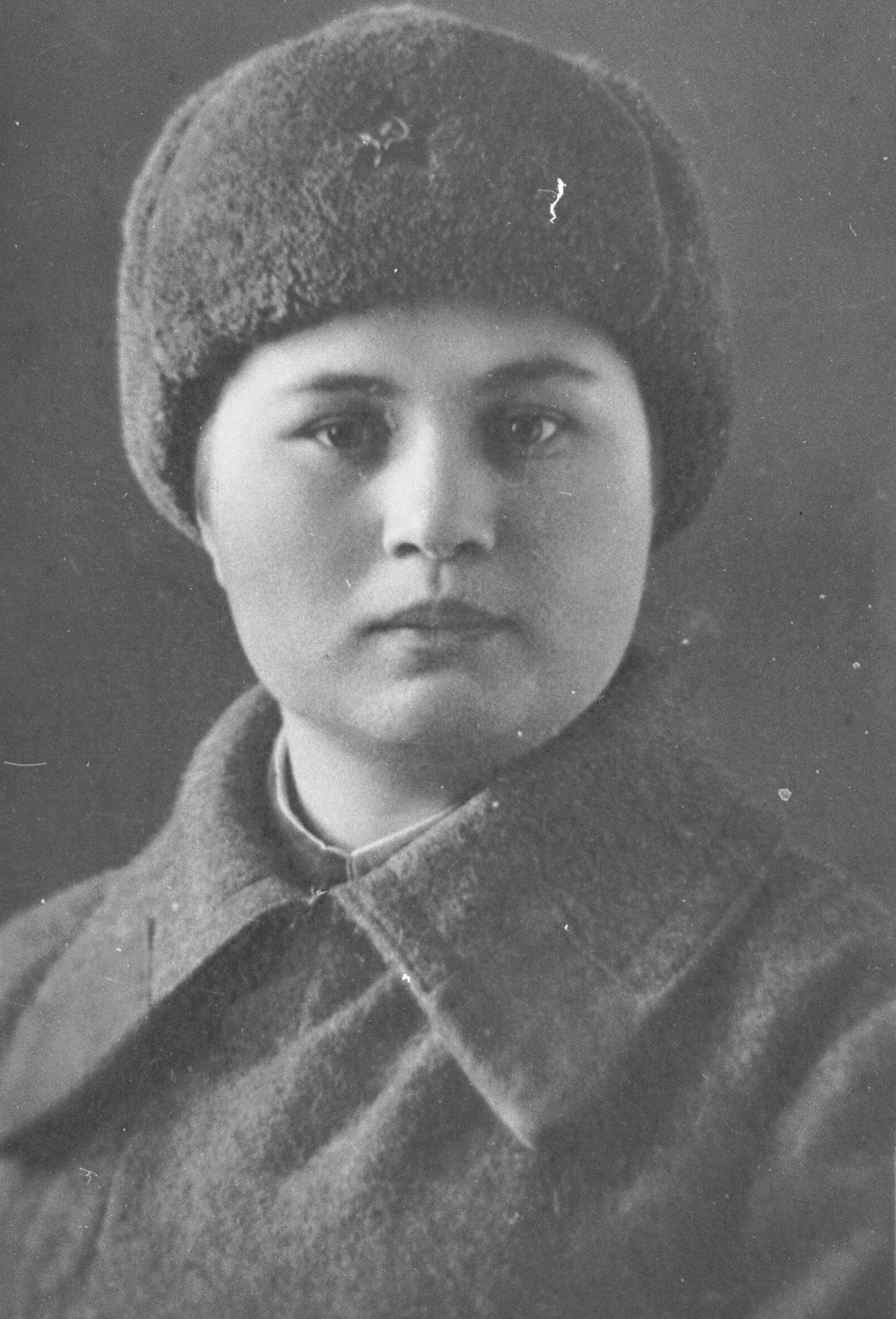 А.Ф. Акимова в г. Энгельсе. Февраль 1942 г.