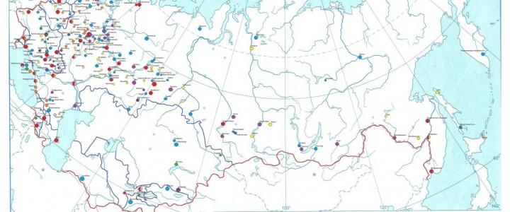 """Карта """"Города, награжденные орденами Союза Советских Социалистических Республик"""""""