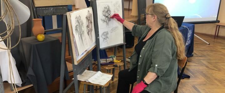 В Анапском филиале МПГУ прошли очередные занятия в рамках онлайн курсов «Уроки изобразительной грамотности для будущих дизайнеров»
