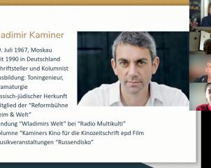 Встреча преподавателей и студентов ИИЯ и ИМО МПГУ с известным немецким писателем Владимиром Каминером