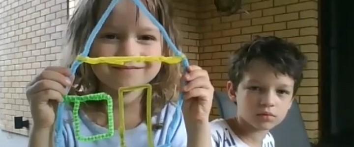 Малыши учатся конструировать: мастер-класс для самых маленьких от учащихся Института детства