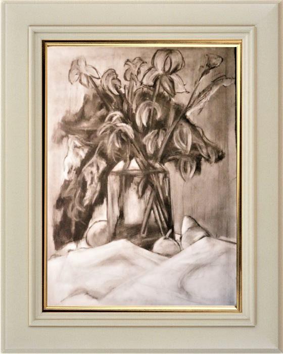 Дурыбичев Владислав. «Осенние цветы», пастель, (60 х 40 см)