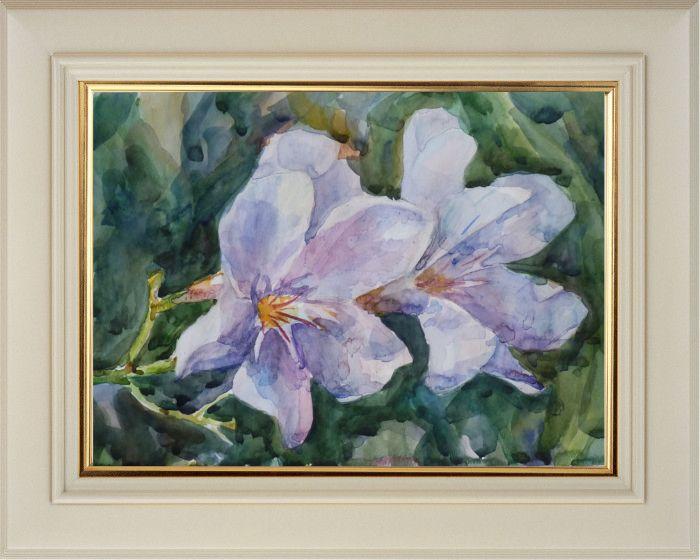 Можарова Ксения. «Цветы», акварель, (21х29,7 см)