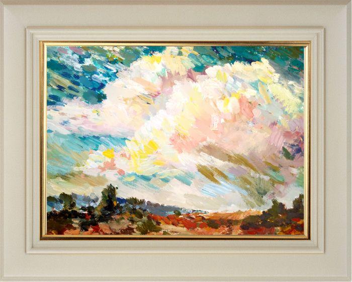 Титоренко Е.А. «Красный песок на фоне неба», Акрил, бумага. (42 х 30 см).