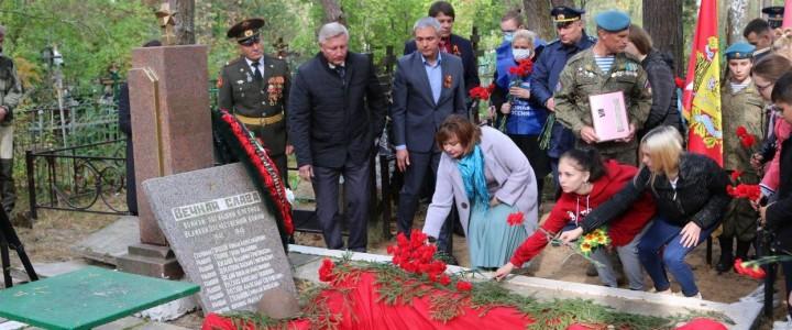 Волонтеры Покровского филиала приняли участие в перезахоронении красноармейца, погибшего в годы Великой Отечественной войны