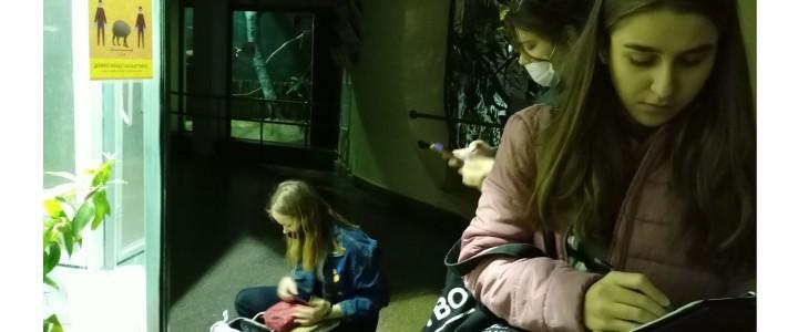 ХГФ: за набросками в Московский зоопарк