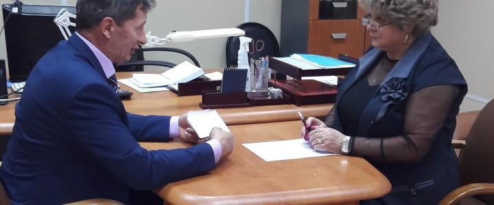 Деловая встреча с начальником территориального управления Администрации городского округа Егорьевск Орловым Борисом Борисовичем.