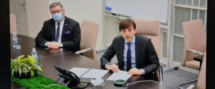 Алексей Лубков принял участие в совещании Министра просвещения Сергея Кравцова с ректорами педвузов