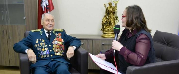 Встреча с ветераном Великой Отечественной войны и ветераном Пограничных войск Николаем Гурьяновым.