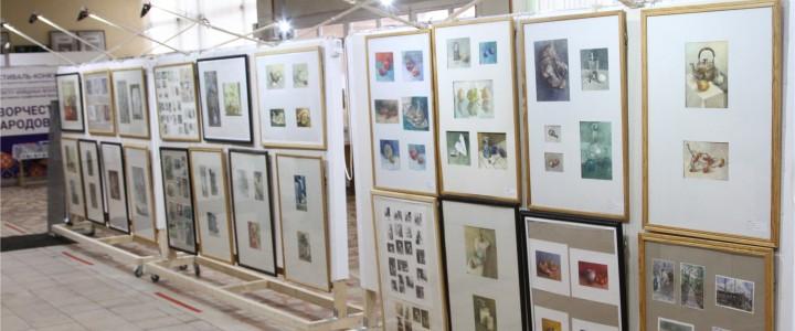 Выставка работ  МЦХШ при РАХ на Художественно-графическом факультете