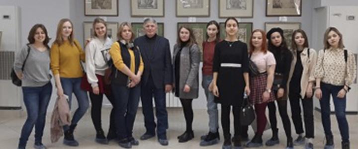 Экскурсионная поездка студентов художественно-графического факультета на выставку творческих работ преподавателей и студентов кафедры рисунка