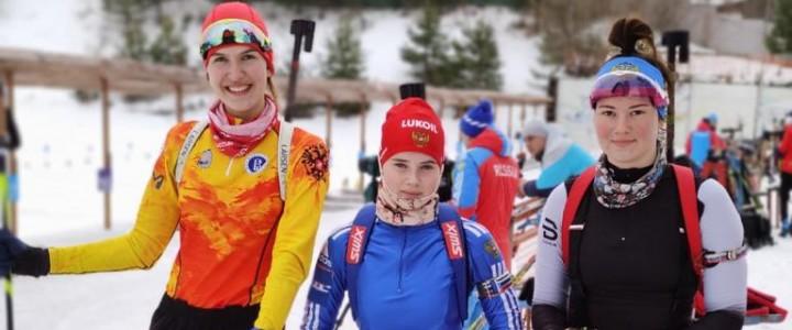 Команда МПГУ по лыжным гонкам и биатлону успешно выступила на соревнованиях в рамках XXXIII Московских студенческих спортивных игр