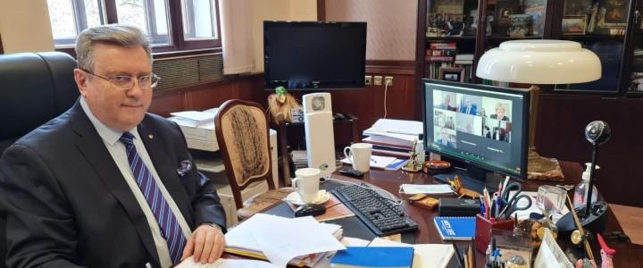 Ректор МПГУ принял участие в российско-белорусском круглом столе