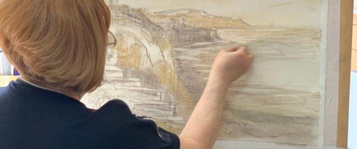 В Мобильной мастерской прошел мастер-класс «Пейзажные зарисовки» от Ковалевской Виктории Константиновны
