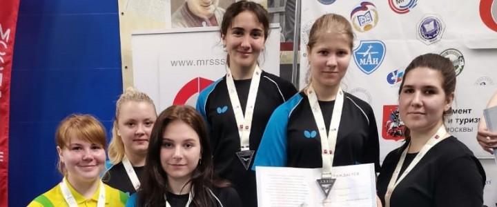 Женская сборная МПГУ по настольному теннису – серебряный призер XXXIII Московских студенческих спортивных игр сезона 2020-2021