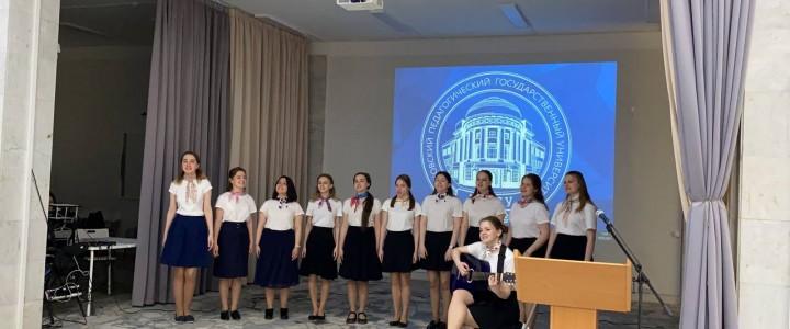 Сводный хор Института филологии на общеуниверситетском конкурсе «Проект по педагогике»