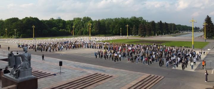 Состоялась линейка, посвященная открытию 62-го трудового семестра студенческих отрядов Москвы.