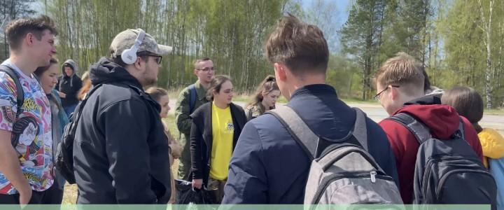 Студенты-участники экологического клуба организовали выезд на посадки леса