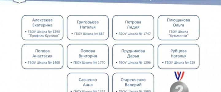 Поздравляем Плющакову Ольгу – лауреата олимпиады «Современный московский учитель»!