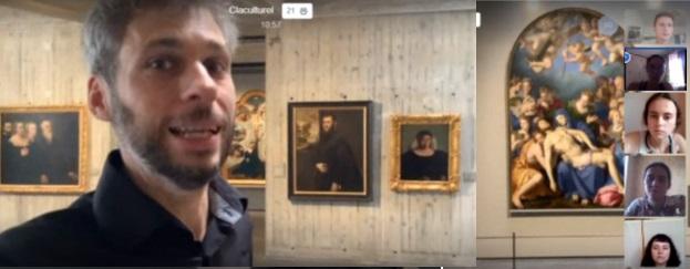 Студенты МПГУ на интерактивной экскурсии в музее изобразительных искусств во Франции