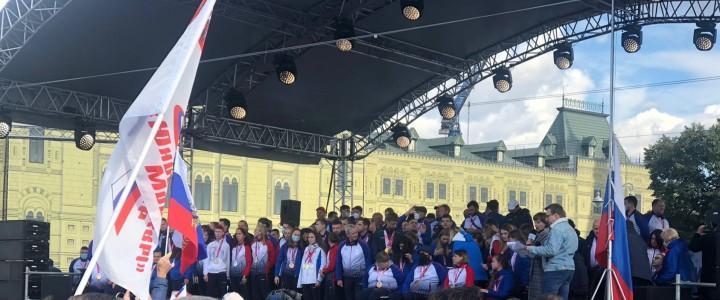Добровольцы МПГУ участвовали в торжественной встрече победителей и призеров Паралимпийских игр в Токио