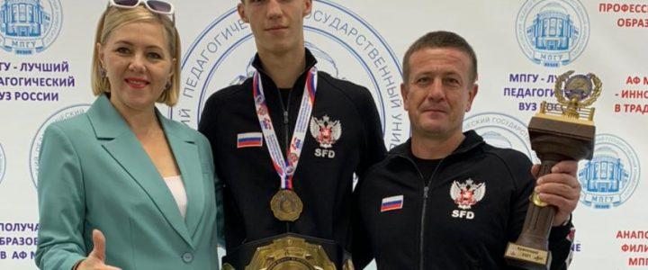 Студент Анапского филиала МПГУ Павлюков Аким одержал победу в XII международном турнире по боксу