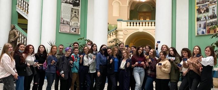 Первый очный день для первокурсников Института филологии оказался богат на события!