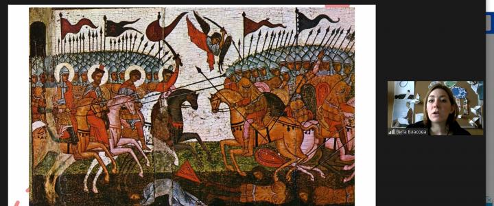 Разговор о философско-историческом прочтении древнерусской живописи с обучающимися Колледжа современных технологий