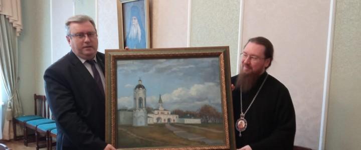 Ректор МПГУ Алексей Лубков провел встречу с ректором Московской духовной академии епископом Феодоритом