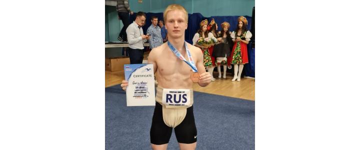 Студент 1 курса ИФКСиЗ Андрей Годин, занял 3 место на кубке Европы среди взрослых